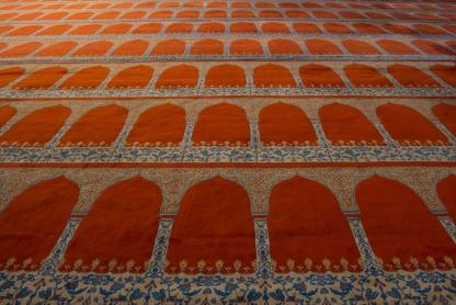 Floor of the Blue Mosque
