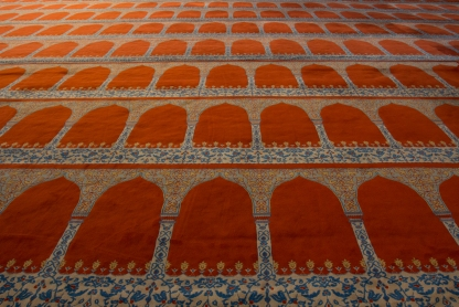 Floor of the Blue Mosque