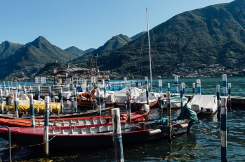 Boats on Monte Isola