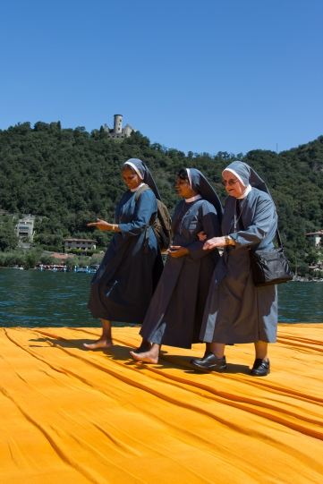 Nuns enjoying the piers