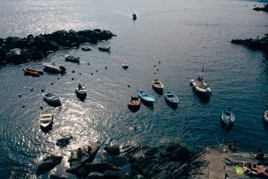 Riomaggiore's harbor.