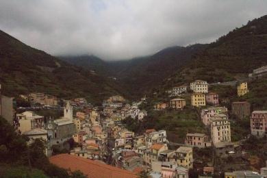 Looking back at Riomaggiore