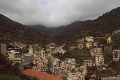 Looking back at Riomaggiore