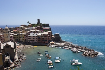 Looking down on Vernazza as we came in to town from our hike.