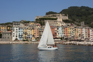 Porto Venere, lots of fancy boats in this marina.