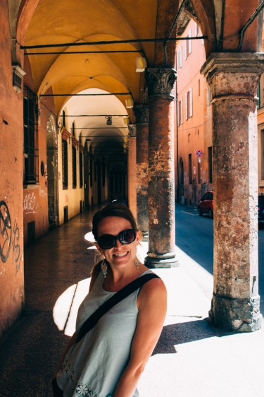Caitlin getting jealous of all the portico pictures