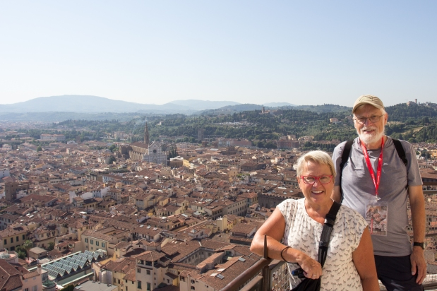 Bill and Gail on the top of the Dome. Gail was determined to climb everything.