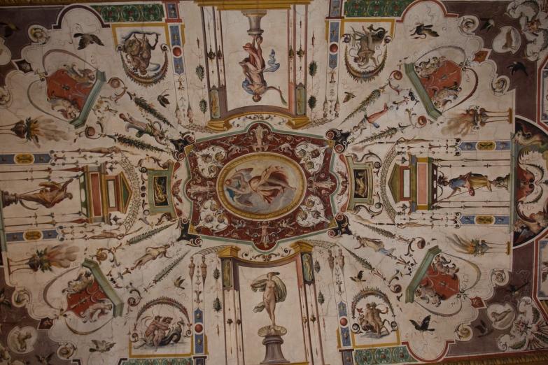Ceiling of the Uffizi