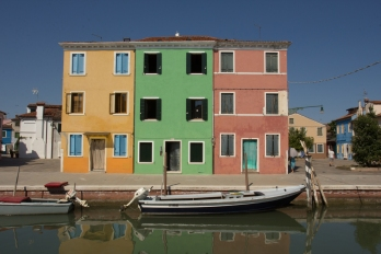 We wondered how you got to choose what color your house was, as no two houses in a row were the same color.