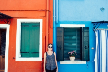 Caitlin in Burano.