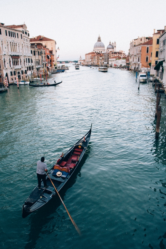 Gondola on the grand canal. I felt like there were so many opportunities to take a postcard shot.