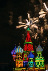 The Grand Finale fireworks over St. Basil's