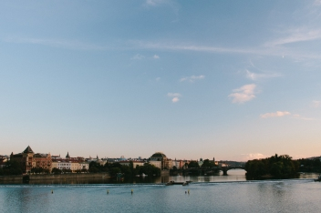 The view from the St. Charles Bridge.