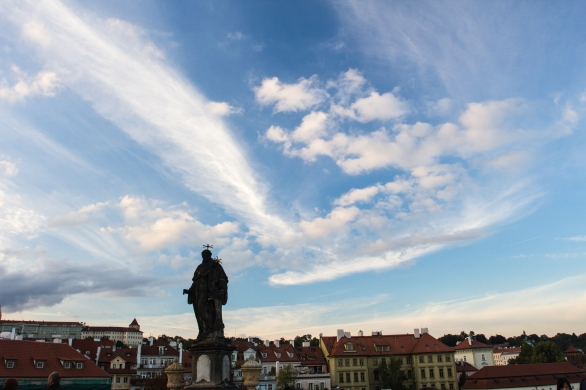 A touch of blue skies for a change of pace, from St. Charles bridge
