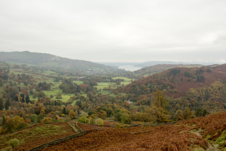 The view as I walked up the first crag face.