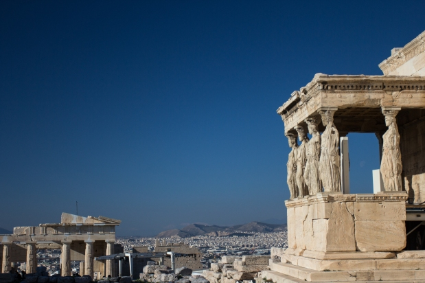 The Caryatids on the Erechtheion. You can only imagine that I made multiple jokes about this.