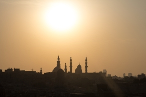 Sunset at the end of the first day over Cairo
