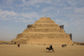 The step pyramid of Joser at Saqqara.