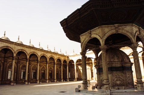 The courtyard of the Mosque of Muhammad Ali