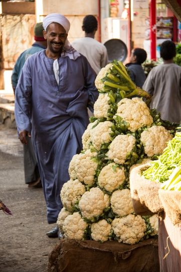 Beautiful cauliflower on display. The chef of the boat did his shopping in the market as we explored and took pictures.