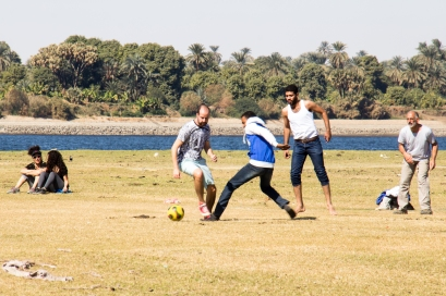 Playing soccer on the banks of the Nile. One of the cooler places I've played, right up there with playing on the Incan trail.