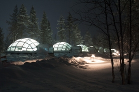 The glass igloos.