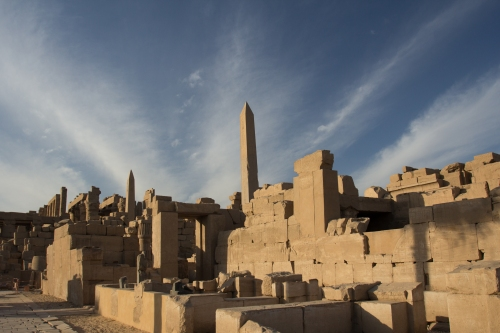 Karnak Temple from the back.