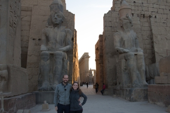 In front of Luxor temple.