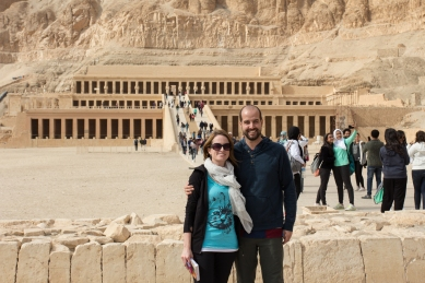 Infront of Deir el Bahari. Much of this temple was rebuilt as the remains were limited. We got a chance to see how they tried to erase Hatshepsut from the history of Egypt, because of her gender.