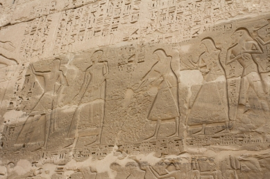Apparently Ramses used to pay soldiers based on the number of hands they brought from the vanquished. But even in this there was corruption and he had to be creative in dealing with the problem.