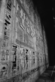 The deep reliefs in certain temples were explained as the desire to prevent latter pharaohs from altering history.