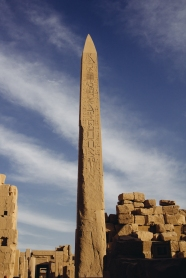 Obelisks are massive and carved from a single piece of stone.