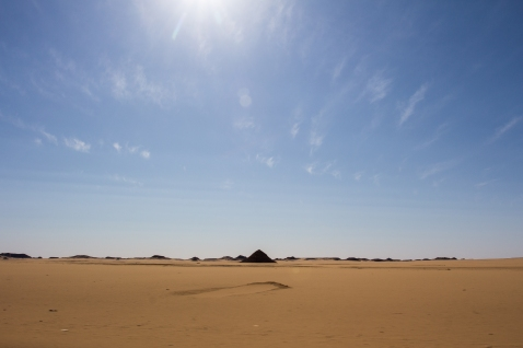 Middle of nowhere Egypt on our way to Abu Simbel.