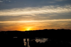 Sunset in Aswan.