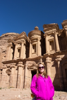 Caitlin at the Monastery.