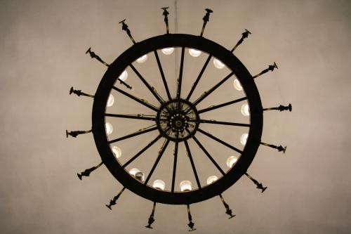 Amazing chandeliers.