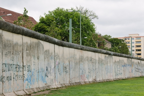 A section of the wall made into a memorial.