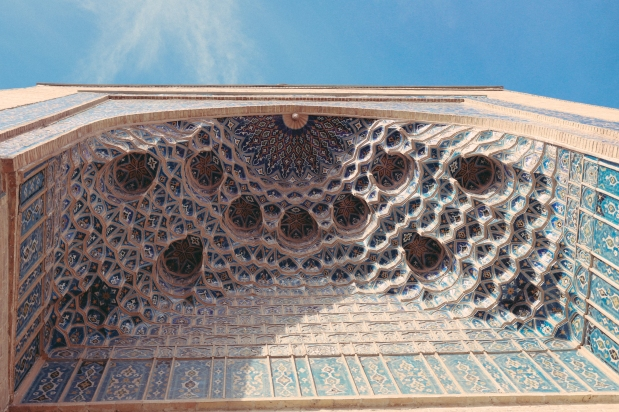 Honey comb architecture similar to that of the mosques in Turkey and S. Spain.